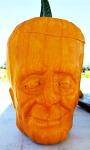image of pumpkin shaped like Frankenstein