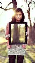 image of girl using invisible cloaking