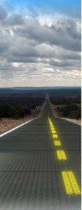 image of a solar technology on a roadway